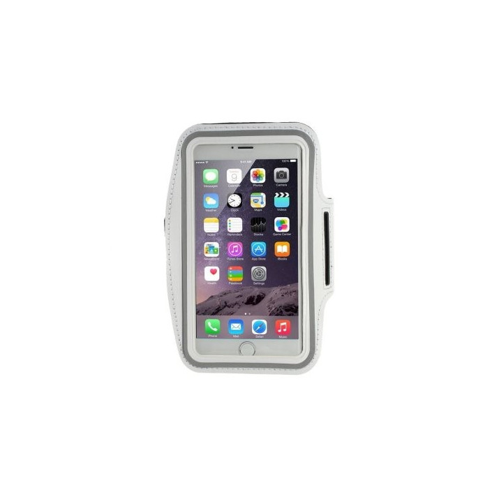 Brassard Sport iPhone 6 PLUS blanc néoprene