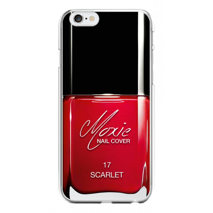 Coque Crystal Moxie NailCover Red Scarlet pour iPhone 6