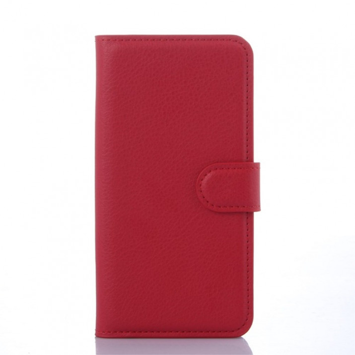 Housse portefeuille rouge Galaxy S6 EDGE