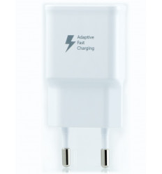 Chargeur Samsung Galaxy Note 4 N910 Charge Rapide AFC 2A Blanc + cable 1,5 M USB-micro USB