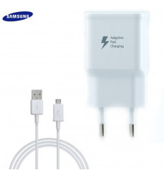 Chargeur Samsung Galaxy S6 Edge Plus cable 1.5M SAMSUNG BLANC AFC Charge Rapide 2A