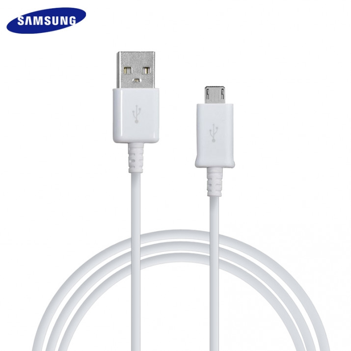 Galaxy S6 EDGE Plus Câble 1.5 mètre Data USB à Micro USB Origine Samsung ECB-DU4EWE Blanc