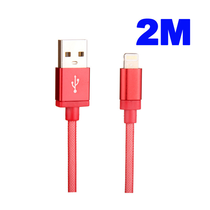 Cable Rouge 2M Data et Charge USB-Dock pour iPhone 6s Plus