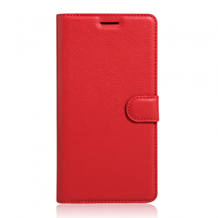 Housse Sony Xperia XA Ultra Portefeuille rouge Aspect Cuir grainé