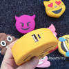 POWER BANK Micro USB 2000mAh motif Smiley Bisous Compatibilité universelle
