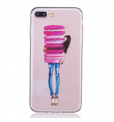 Coque souple motif Girly Macarons pour iPhone 7 Plus