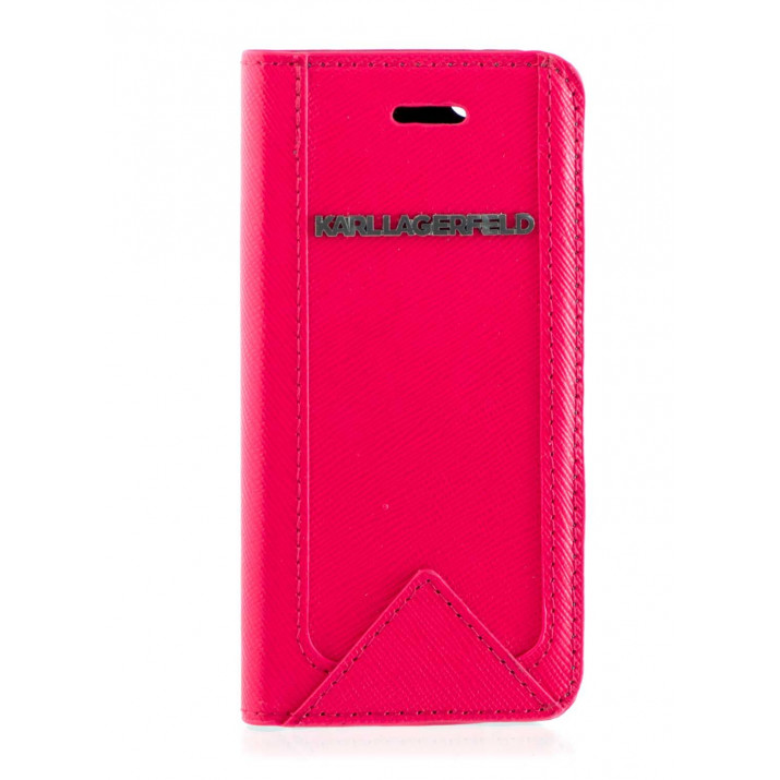 KARL LAGERFELD Housse Folio rouge pour iPhone 5/5S/SE