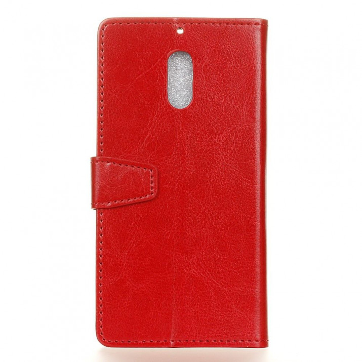 Housse Wiko VIEW XL Portefeuille Rouge