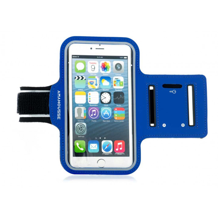 Brassard iPhone X sport Bleu Néoprène ultra confortable