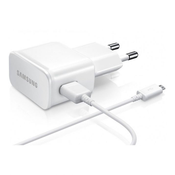 Samsung Galaxy J6 2018 Chargeur secteur 2A+cable 1.20m BLANC Micro USB